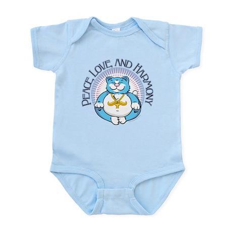 Buddha Kitty: Peace, Love, an Infant Bodysuit