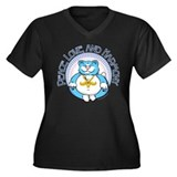 Buddha Kitty: Peace, Love, an Women's Plus Size V-