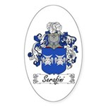 Serafini Coat of Arms Oval Sticker