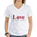 Love at first sight Women's V-Neck T-Shirt