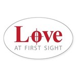Love at first sight Sticker (Oval 50 pk)