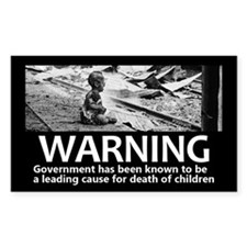 Government Warning Decal