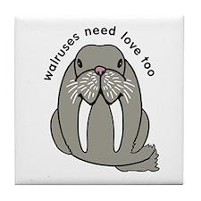 walruses need love too Tile Coaster