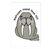 walruses need love too Postcards (Package of 8)