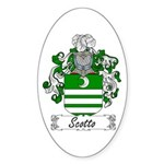 Scotto Coat of Arms Oval Sticker