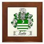 Scotto Coat of Arms Framed Tile