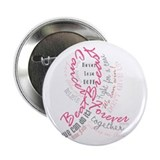 "Breast Cancer Typography 2.25"" Button (10 pack)"