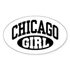 Chicago Girl Oval Stickers