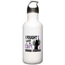 Fought Like A Girl Hodgkin's Lymphoma Water Bottle