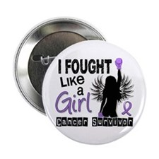 "Fought Like A Girl Hodgkin's Lymphoma 2.25"" Button"