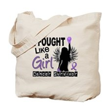 Fought Like A Girl Hodgkin's Lymphoma Tote Bag