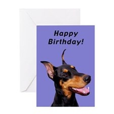 Doberman Pinscher Birthday Card