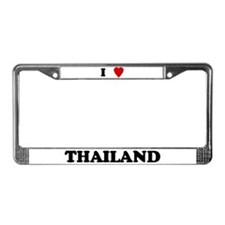 I Love Thailand License Plate Frame