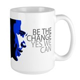 Obama - Change - Yes We Can - Blue Mug