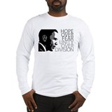 Obama - Hope Over Fear - Grey Long Sleeve T-Shirt