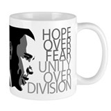 Obama - Hope Over Fear - Grey Small Mug