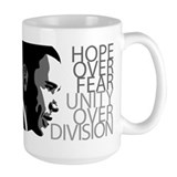 Obama - Hope Over Fear - Grey Coffee Mug