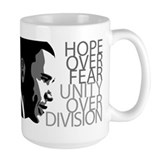 Obama - Hope Over Fear - Grey Mug