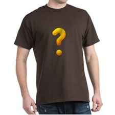 Question Mark Black T-Shirt
