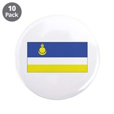 "Buryatia Flag 3.5"" Button (10 pack)"