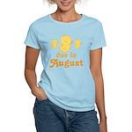 Due In August Baby Duck Women's Light T-Shirt