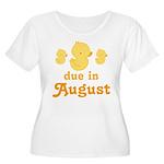 Due In August Baby Duck Women's Plus Size Scoop Ne