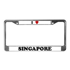 I Love Singapore License Plate Frame