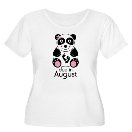 August Panda Baby Announcement Women's Plus Size S