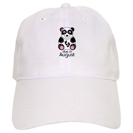 August Panda Baby Announcement Cap