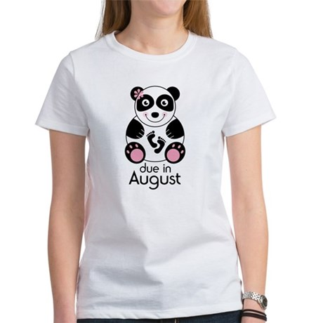 August Panda Baby Announcement Women's T-Shirt