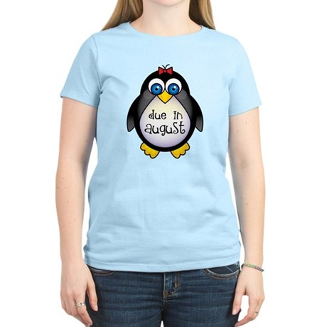 Cute Penguin August Baby Women's Light T-Shirt
