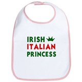 Irish Italian Princess Bib