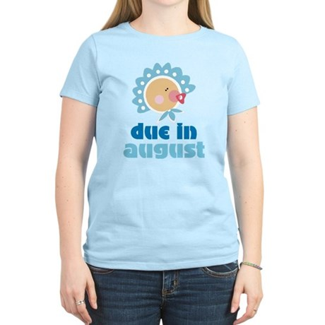 Cute Blue August Baby Quote Women's Light T-Shirt