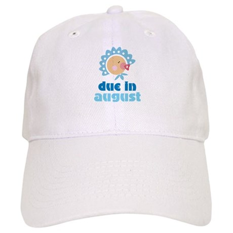 Cute Blue August Baby Quote Cap