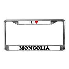 I Love Mongolia License Plate Frame