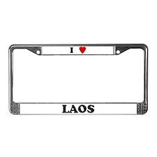 I Love Laos License Plate Frame