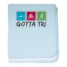 Gotta Tri (Triathlon) baby blanket