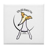 Italian Greyhound IAAM Tile Coaster