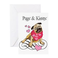 Pugs & Kisses Valentine Greeting Card