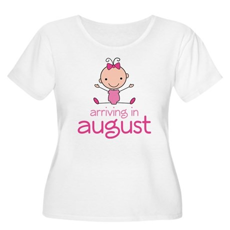 August Maternity Stick Girl Women's Plus Size Scoo