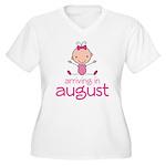 August Maternity Stick Girl Women's Plus Size V-Ne