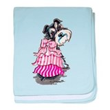 Girly Schnauzer baby blanket