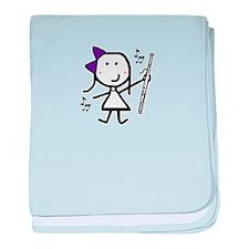 Bassoon - Purple baby blanket