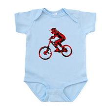 Cute Black mountain bike Infant Bodysuit