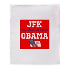 JFK as hot as OBAMA Throw Blanket