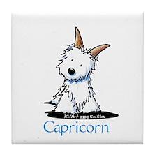 Capricorn Westie Tile Coaster