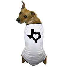 I Love Texas Dog T-Shirt-Black