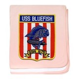 USS BLUEFISH baby blanket
