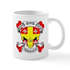 Ashworth Family Crest Skull Mug