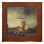 Rembrandt: on God & Painting Framed Tile